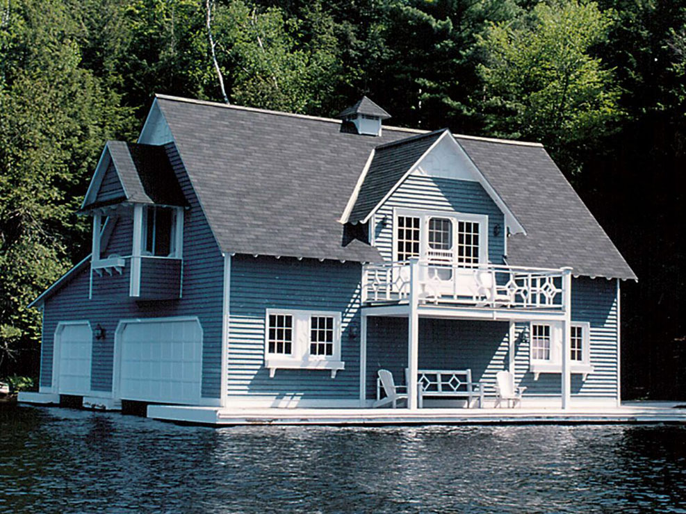 Decks by Nordeck - add a deck to your boathouse.